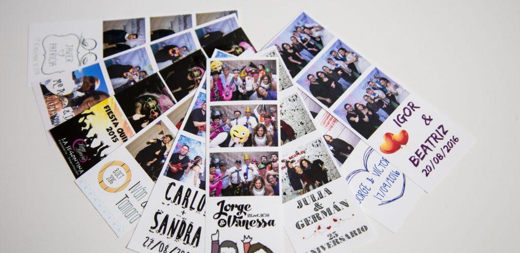 Tiras de fotos personalizadas fotomatón